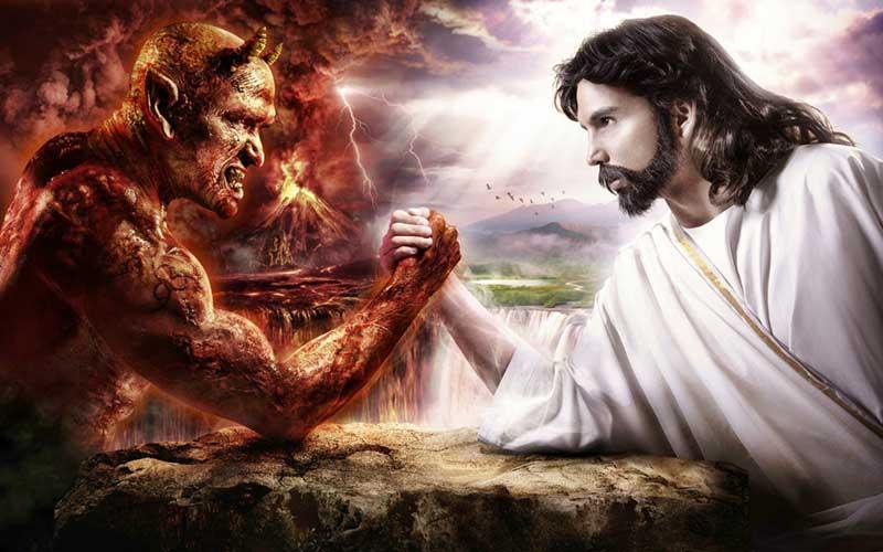 Risultati immagini per Gesù combatte il demonio